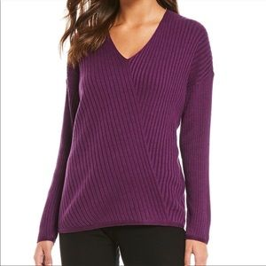 💜Eileen Fisher Variegated Ribbed V Neck Sweater💜